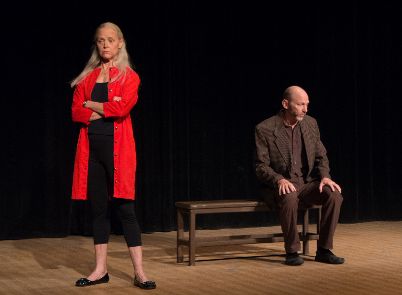Jill Gottlieb and Sky Yeager in: Dialogue to Come. Photo by Lou Barranti