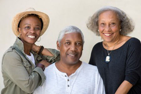 Kissiah Young, Harold James, and Cynthia Simmons